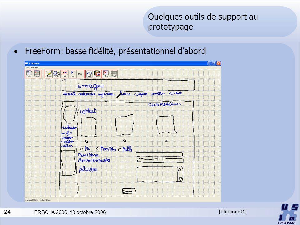 Quelques outils de support au prototypage