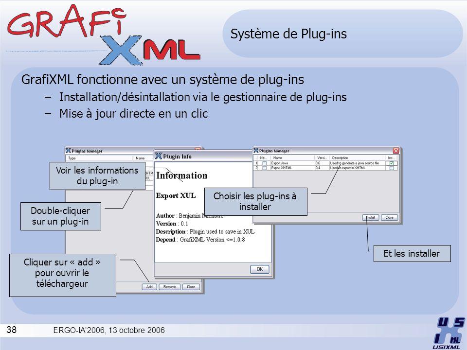 GrafiXML fonctionne avec un système de plug-ins