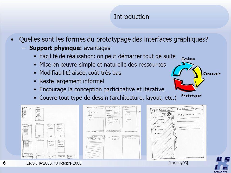 Quelles sont les formes du prototypage des interfaces graphiques