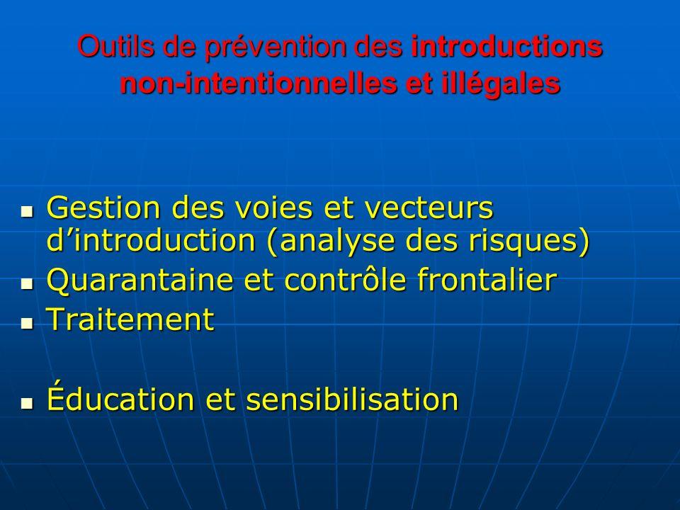 Outils de prévention des introductions non-intentionnelles et illégales