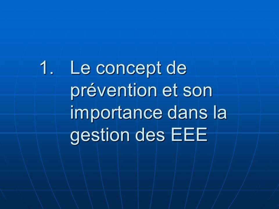 Le concept de prévention et son importance dans la gestion des EEE