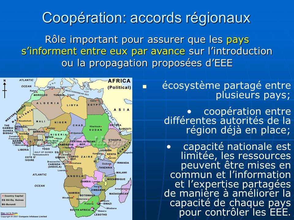 Coopération: accords régionaux