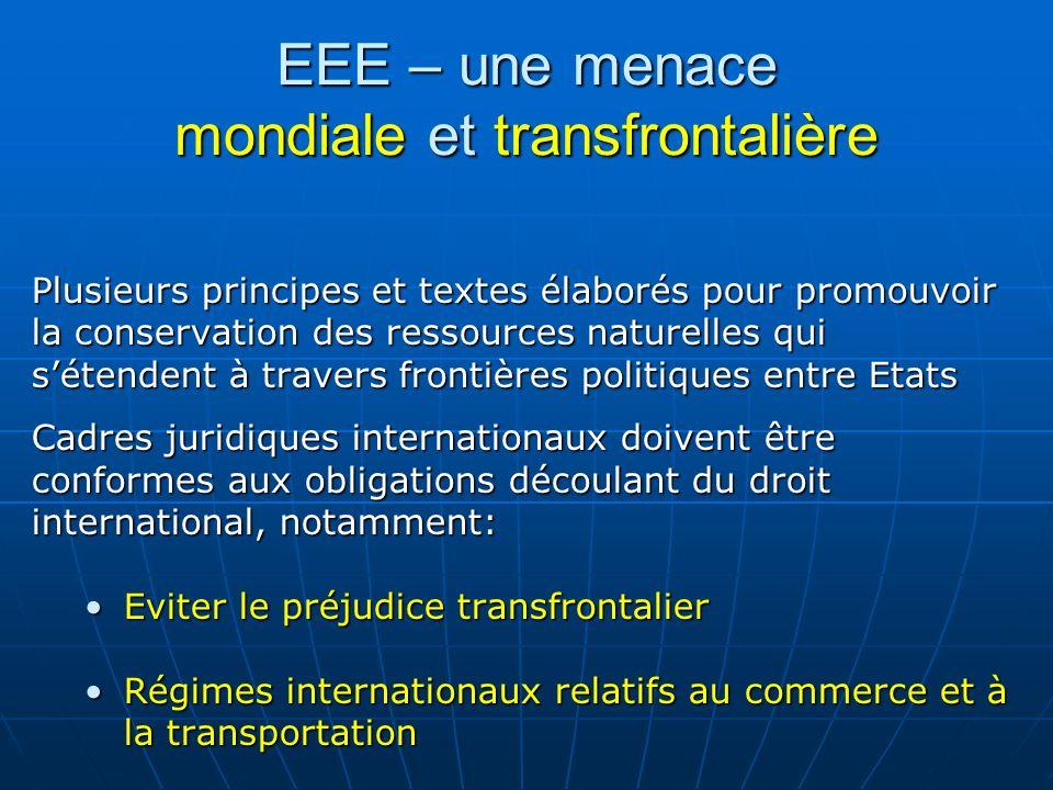 EEE – une menace mondiale et transfrontalière