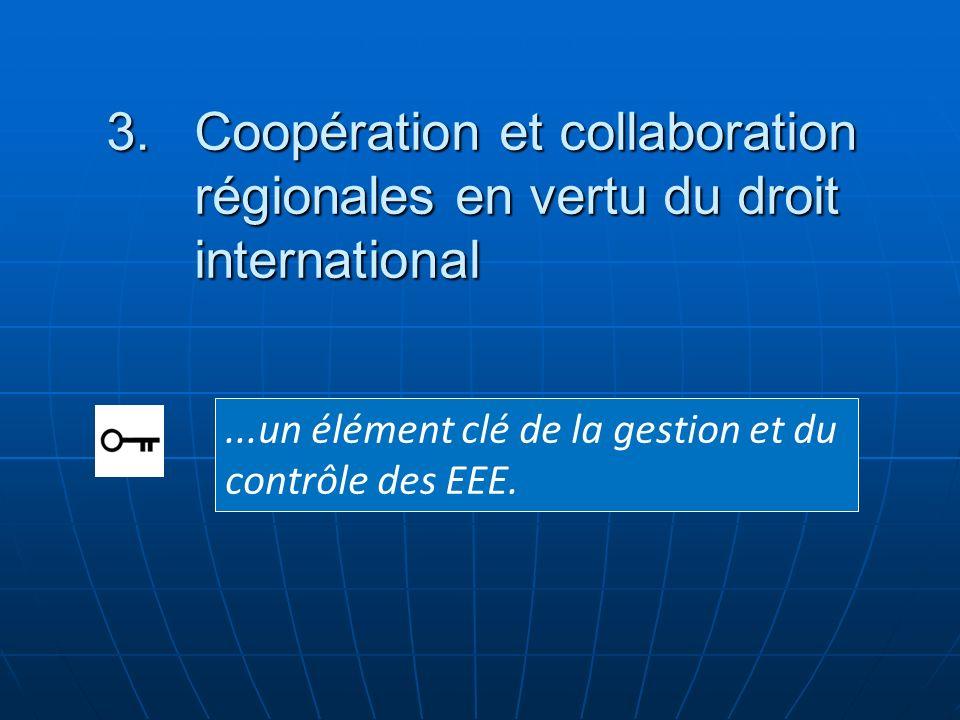 Coopération et collaboration régionales en vertu du droit international