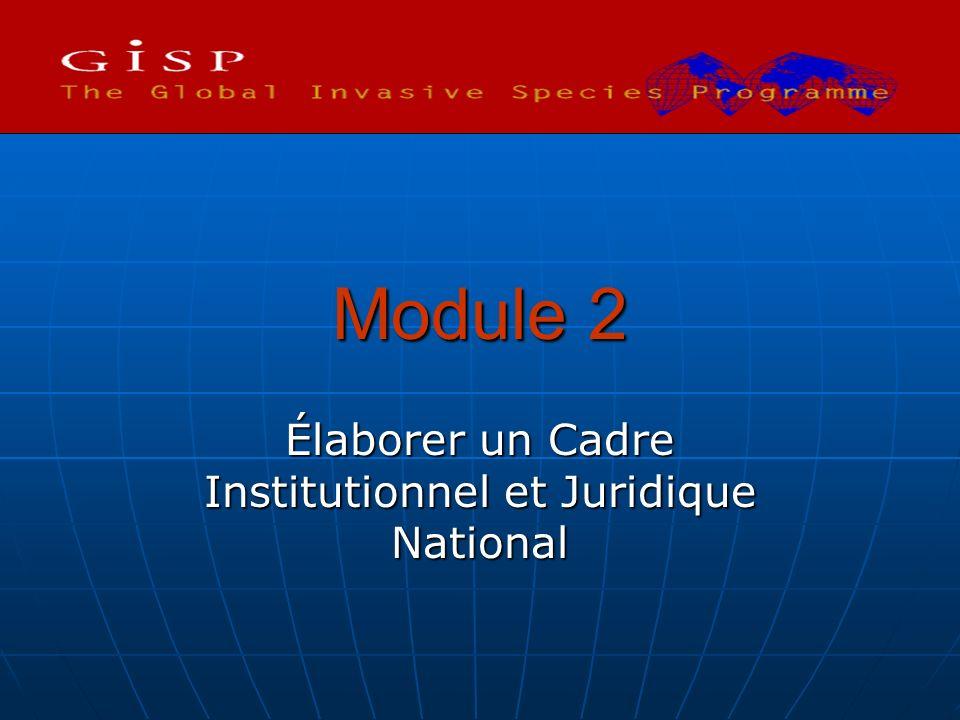 Élaborer un Cadre Institutionnel et Juridique National