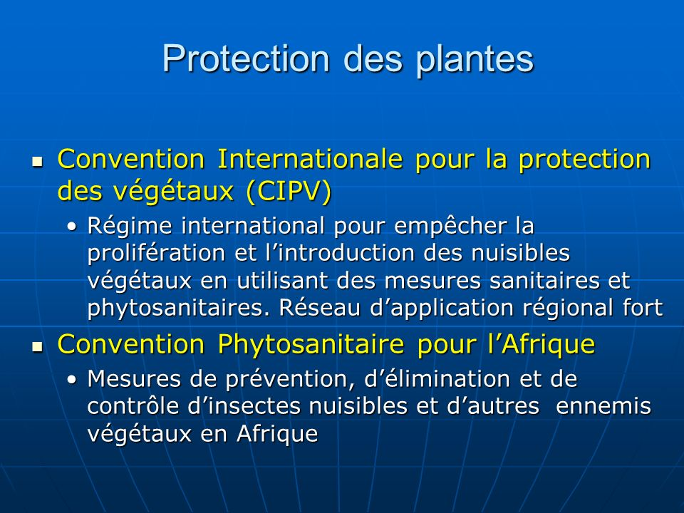 Protection des plantes