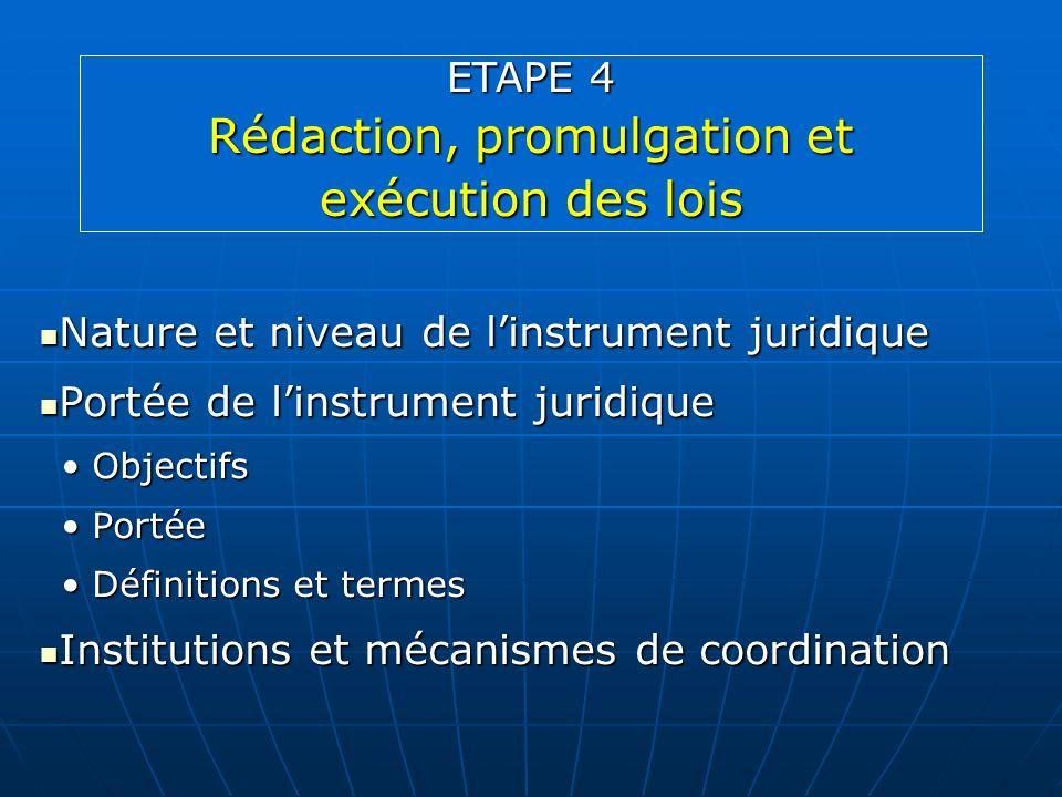 Rédaction, promulgation et