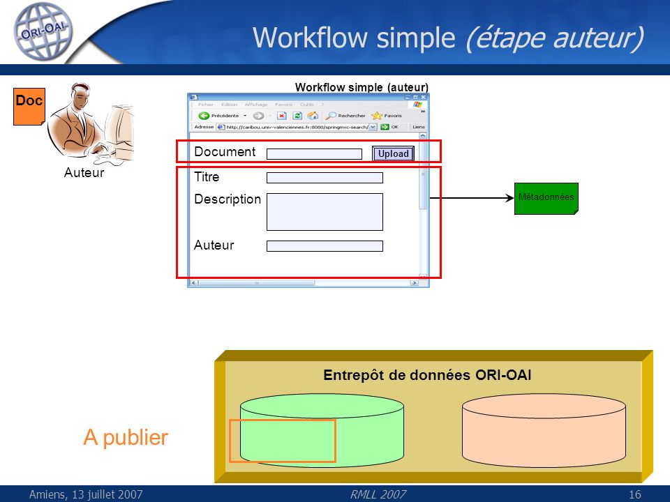 Workflow simple (étape auteur)