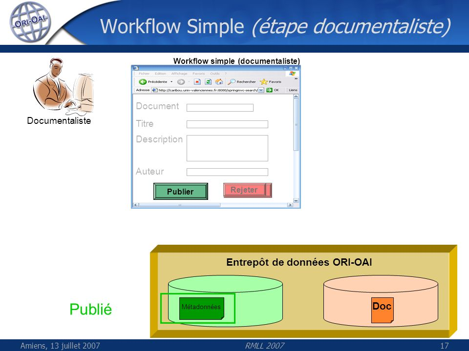 Workflow Simple (étape documentaliste)