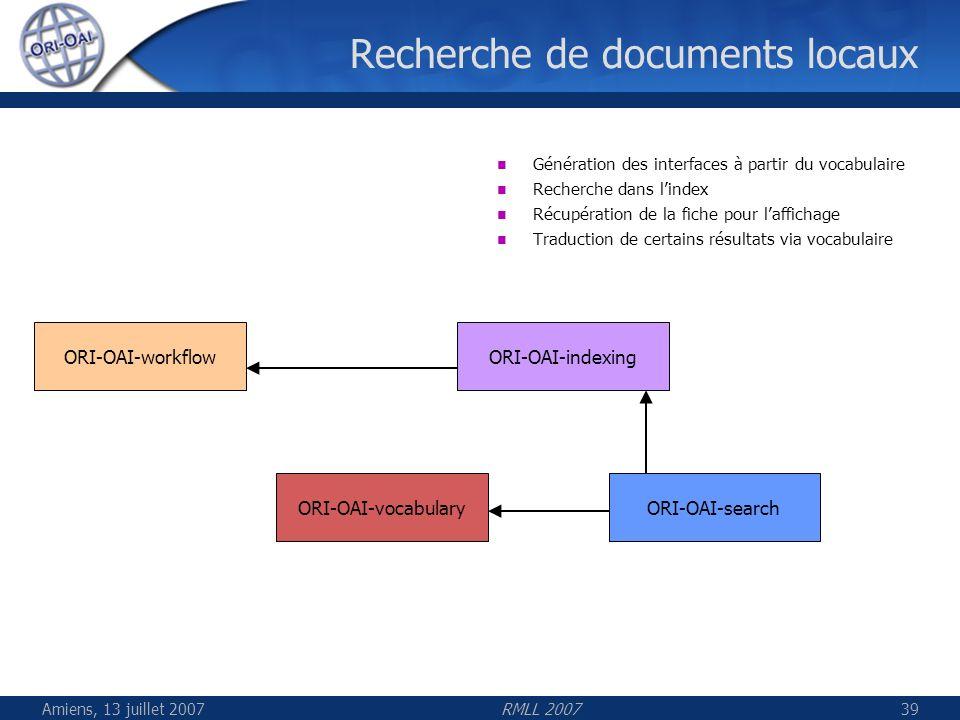 Recherche de documents locaux