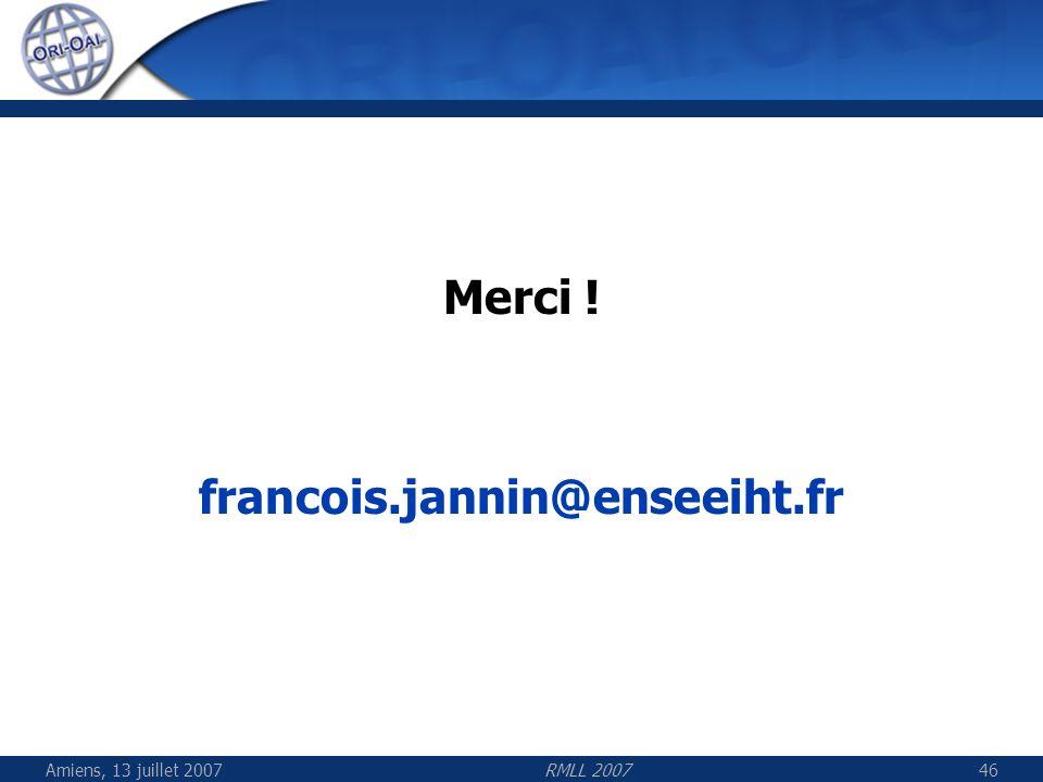 Merci ! francois.jannin@enseeiht.fr