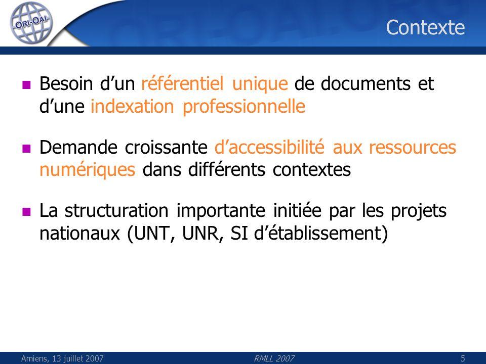 Contexte Besoin d'un référentiel unique de documents et d'une indexation professionnelle.