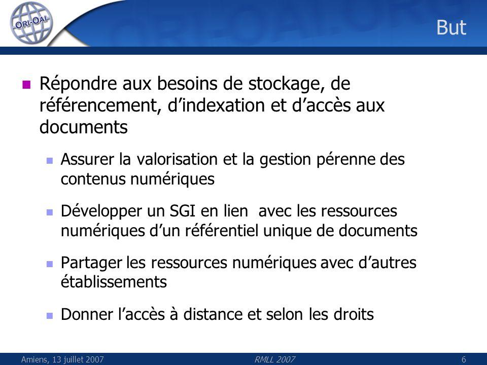 But Répondre aux besoins de stockage, de référencement, d'indexation et d'accès aux documents.