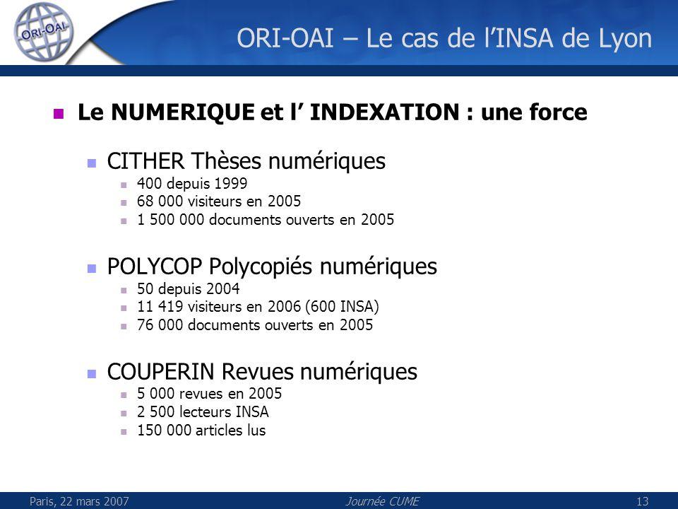 ORI-OAI – Le cas de l'INSA de Lyon