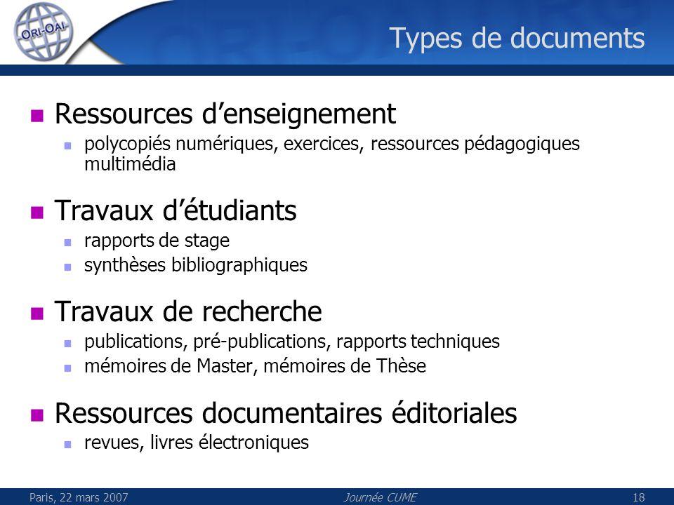 Ressources d'enseignement