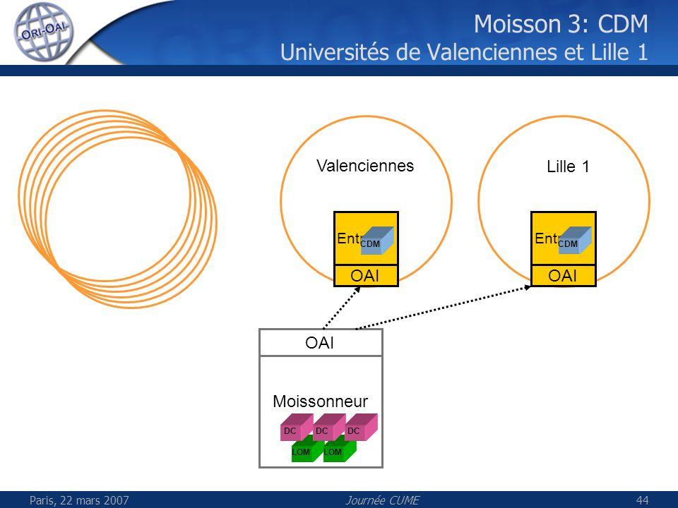 Moisson 3: CDM Universités de Valenciennes et Lille 1