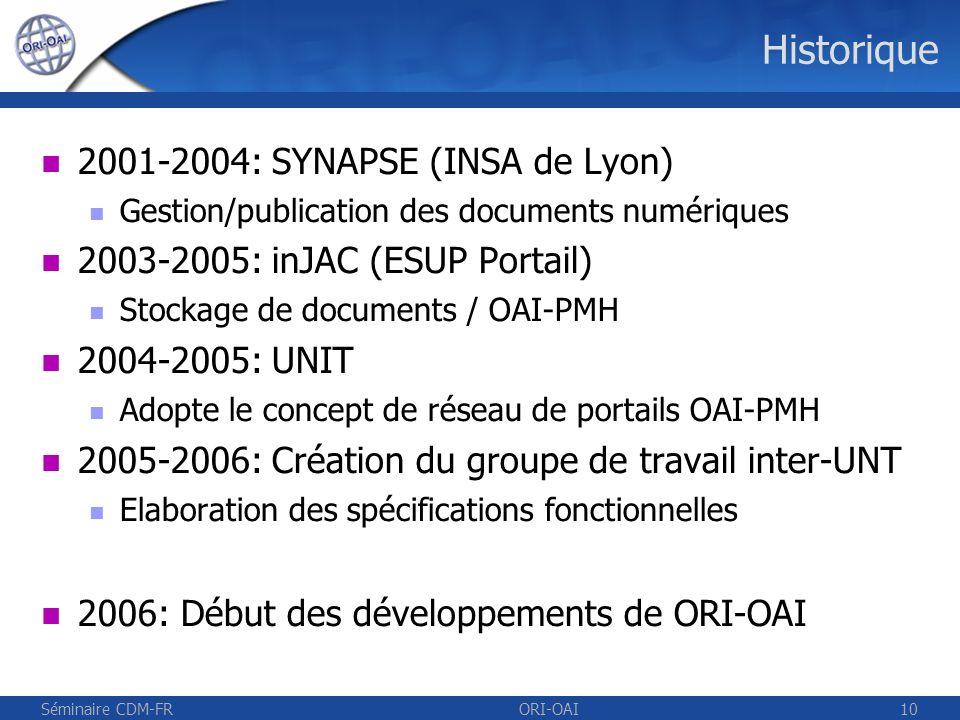Historique 2001-2004: SYNAPSE (INSA de Lyon)