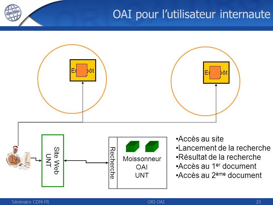 OAI pour l'utilisateur internaute
