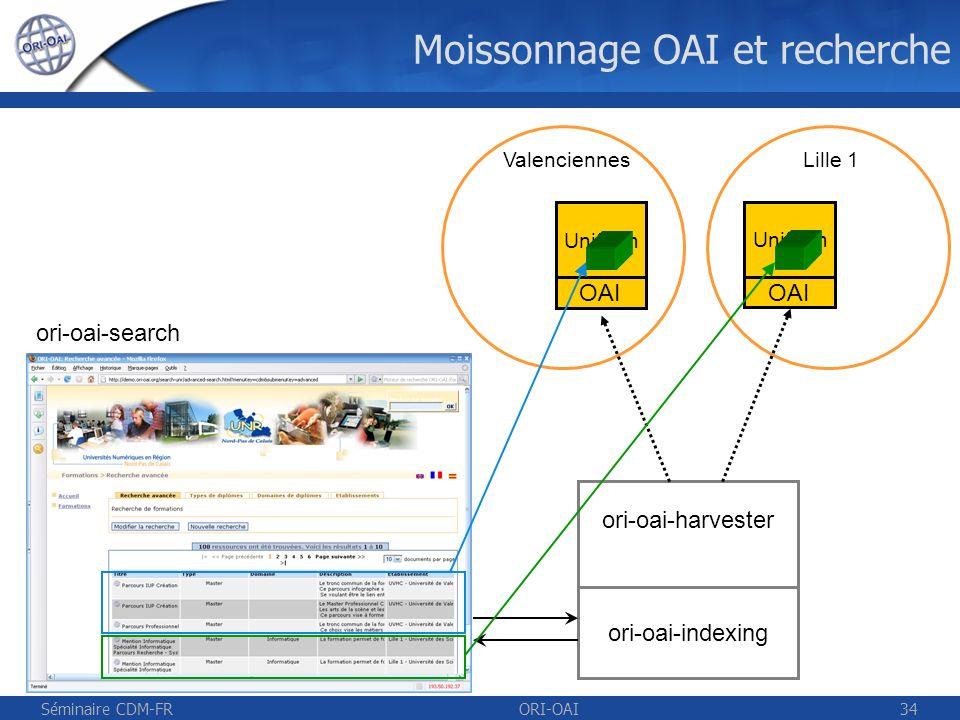 Moissonnage OAI et recherche