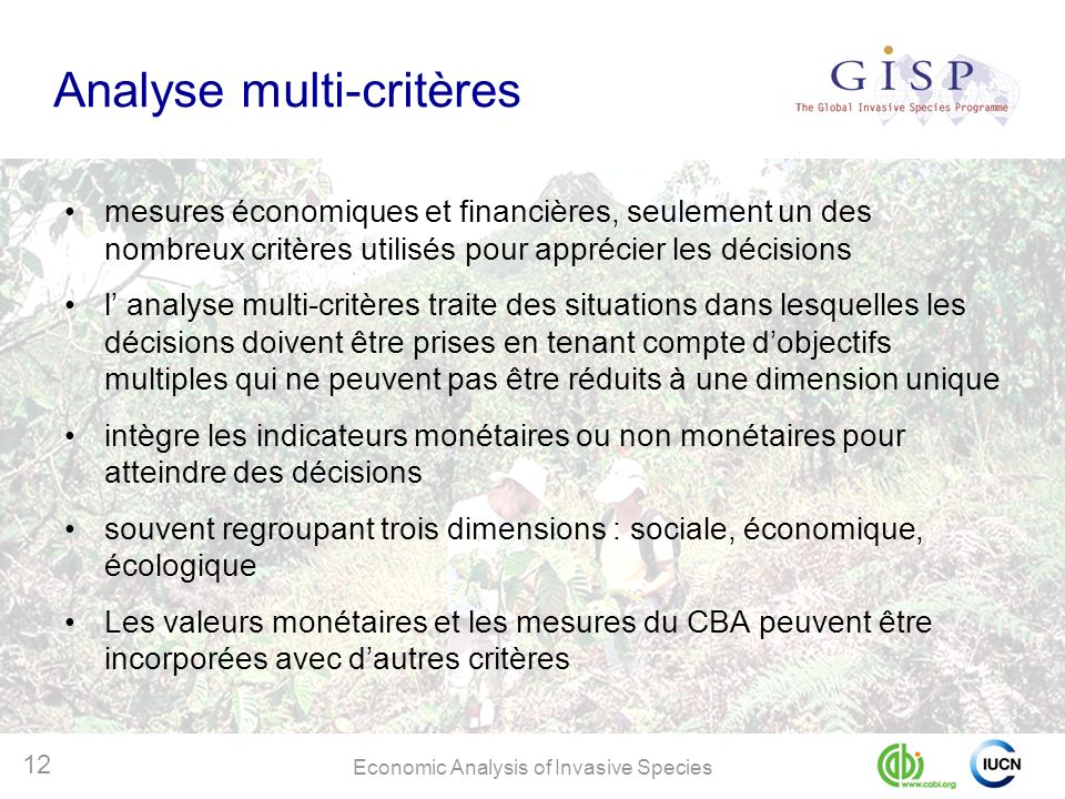 Analyse multi-critères