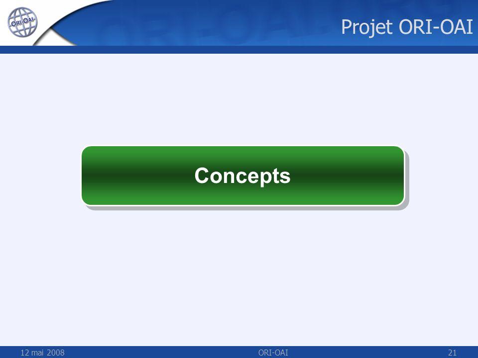 Projet ORI-OAI Concepts 12 mai 2008 ORI-OAI