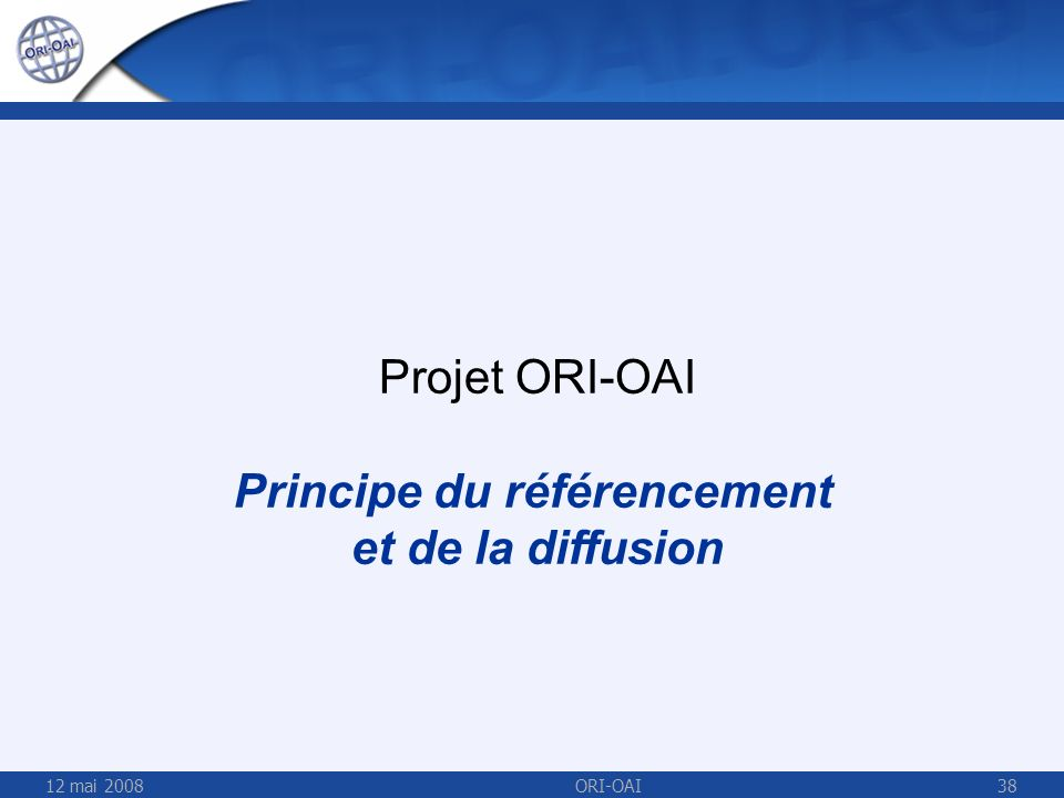 Principe du référencement et de la diffusion