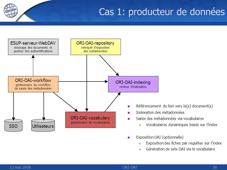 Cas 1: producteur de données