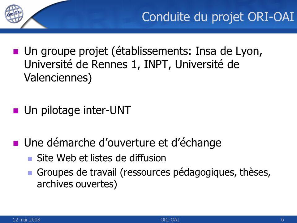 Conduite du projet ORI-OAI