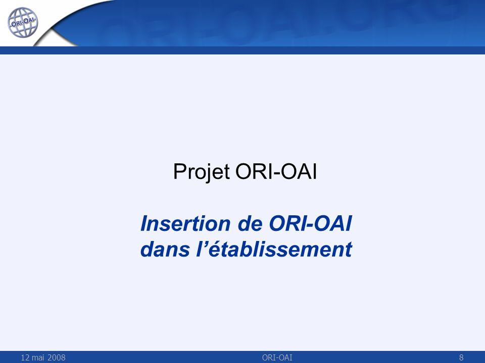 Insertion de ORI-OAI dans l'établissement