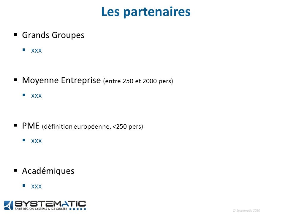 Les partenaires Grands Groupes