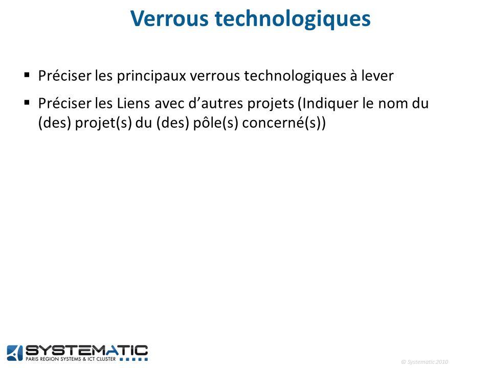Verrous technologiques