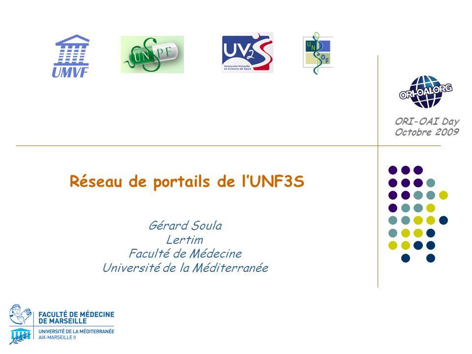 Réseau de portails de l'UNF3S