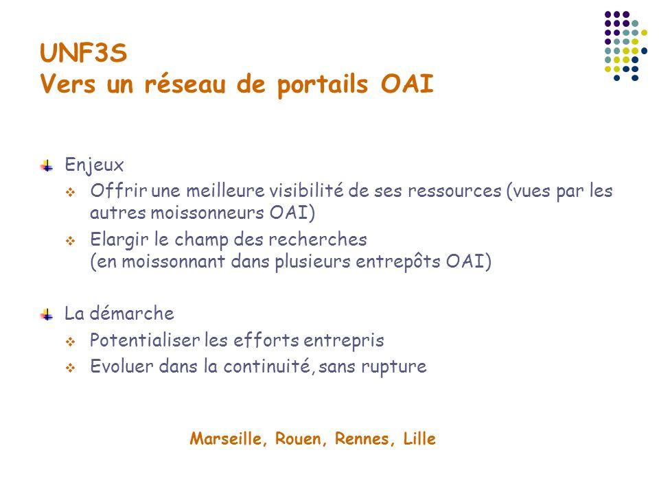 UNF3S Vers un réseau de portails OAI