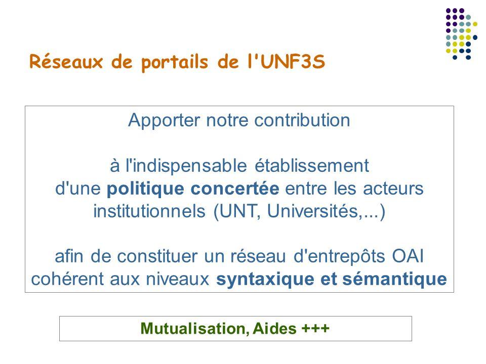 Réseaux de portails de l UNF3S