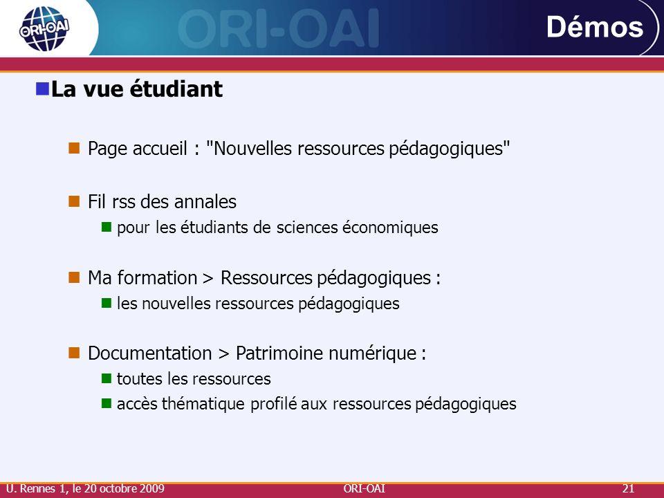 Démos La vue étudiant. Page accueil : Nouvelles ressources pédagogiques Fil rss des annales. pour les étudiants de sciences économiques.