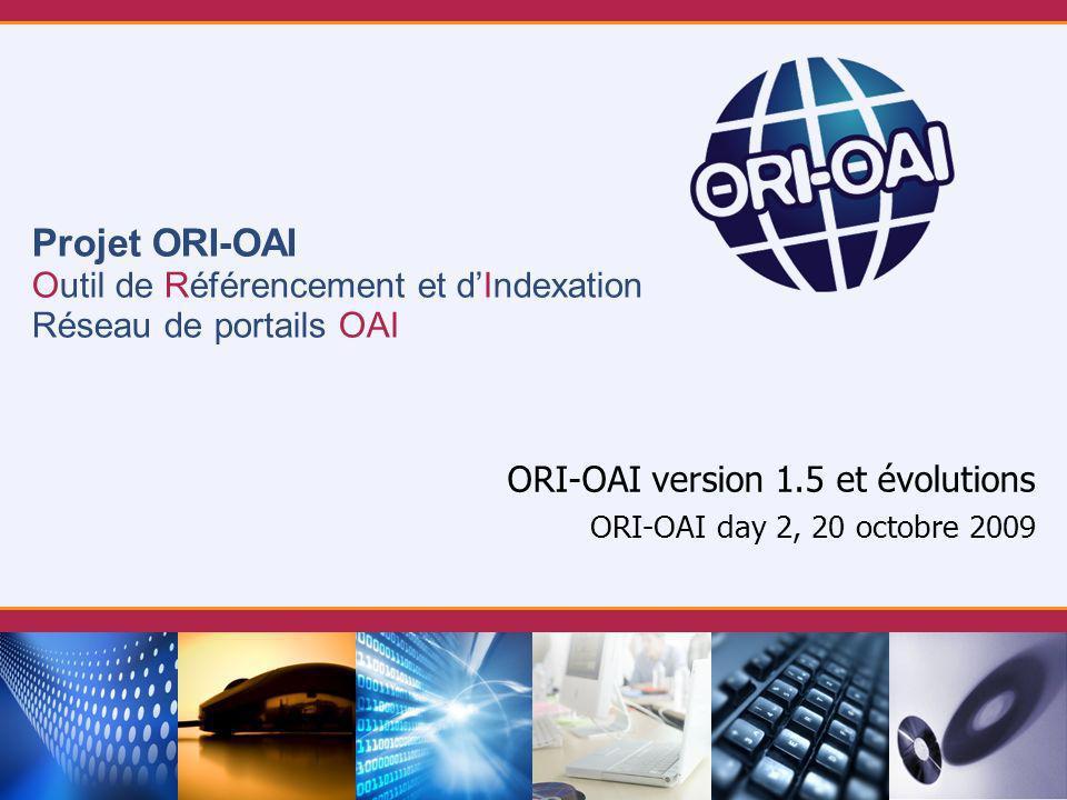 ORI-OAI version 1.5 et évolutions