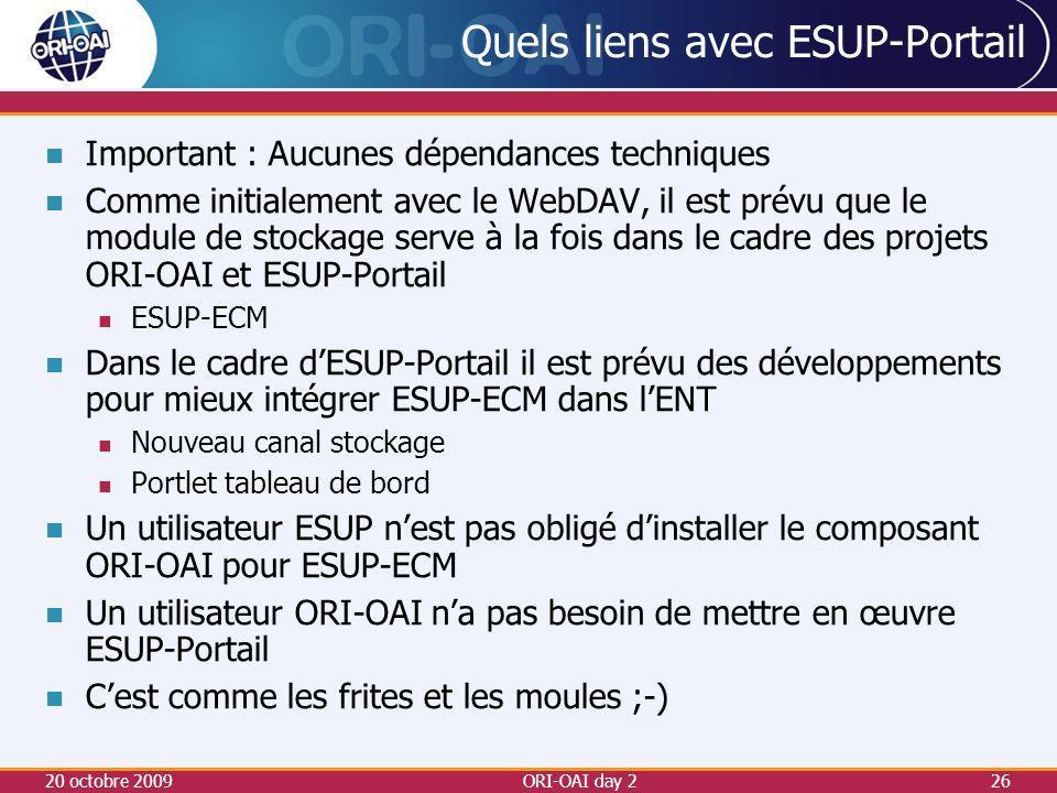 Quels liens avec ESUP-Portail