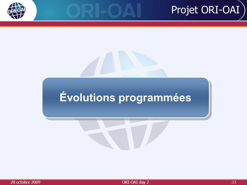 Évolutions programmées