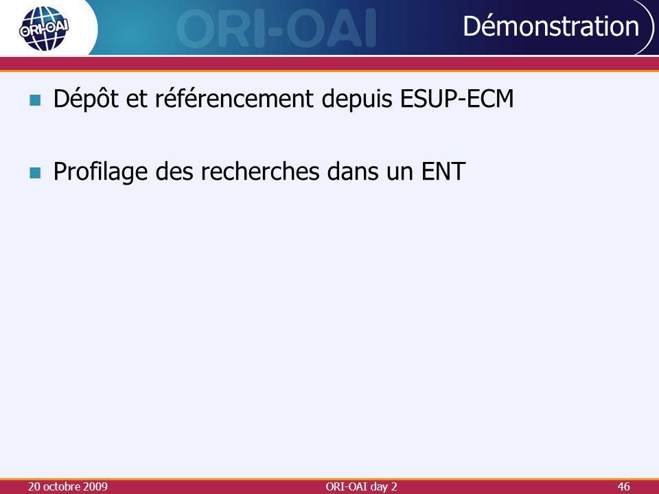 Démonstration Dépôt et référencement depuis ESUP-ECM