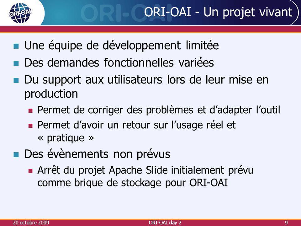 ORI-OAI - Un projet vivant
