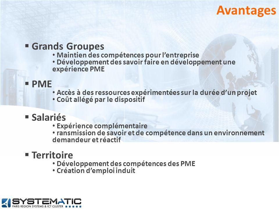 Avantages Grands Groupes PME Salariés Territoire