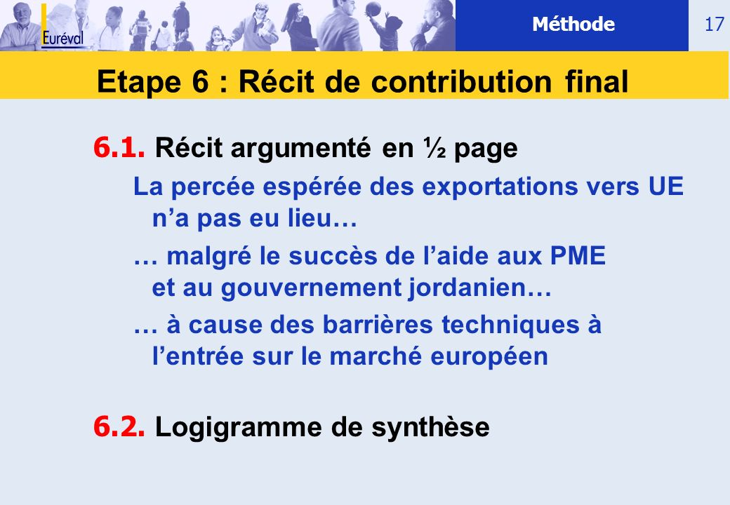 Etape 6 : Récit de contribution final