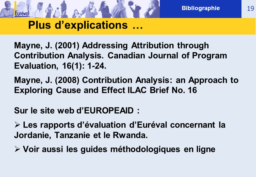 Bibliographie Plus d'explications …
