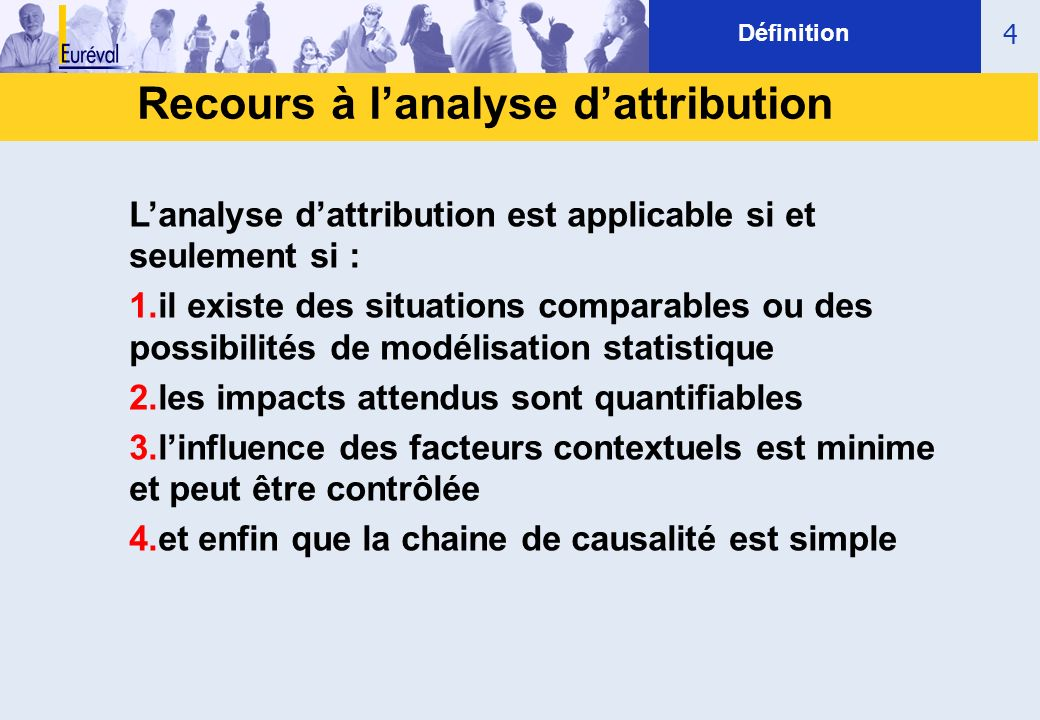 Recours à l'analyse d'attribution