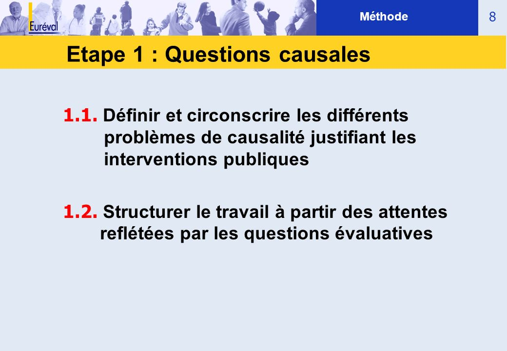 Etape 1 : Questions causales