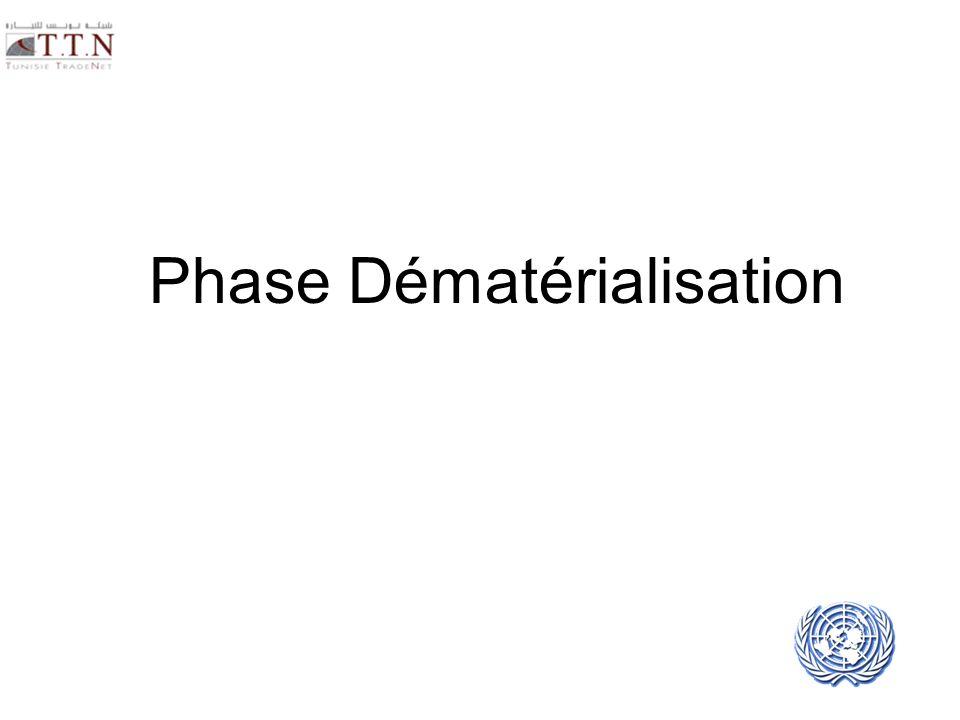 Phase Dématérialisation