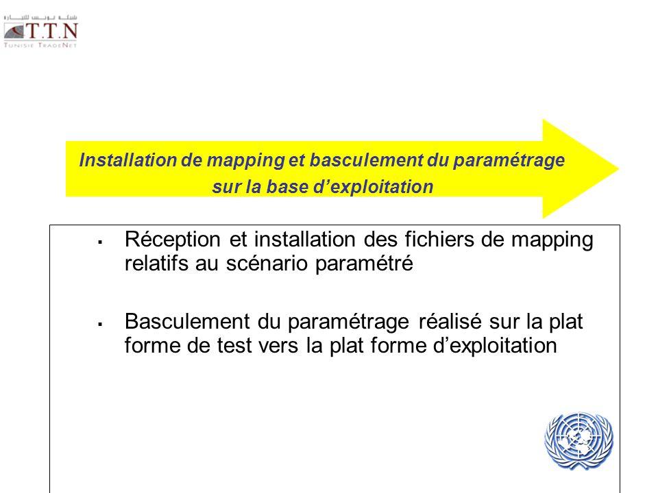 Installation de mapping et basculement du paramétrage