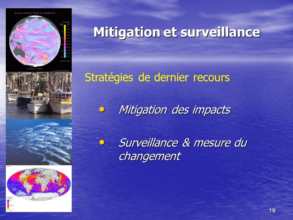 Mitigation et surveillance