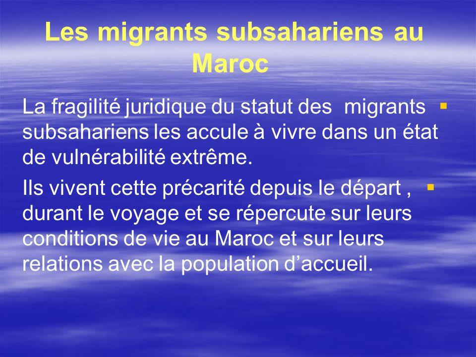 Les migrants subsahariens au Maroc