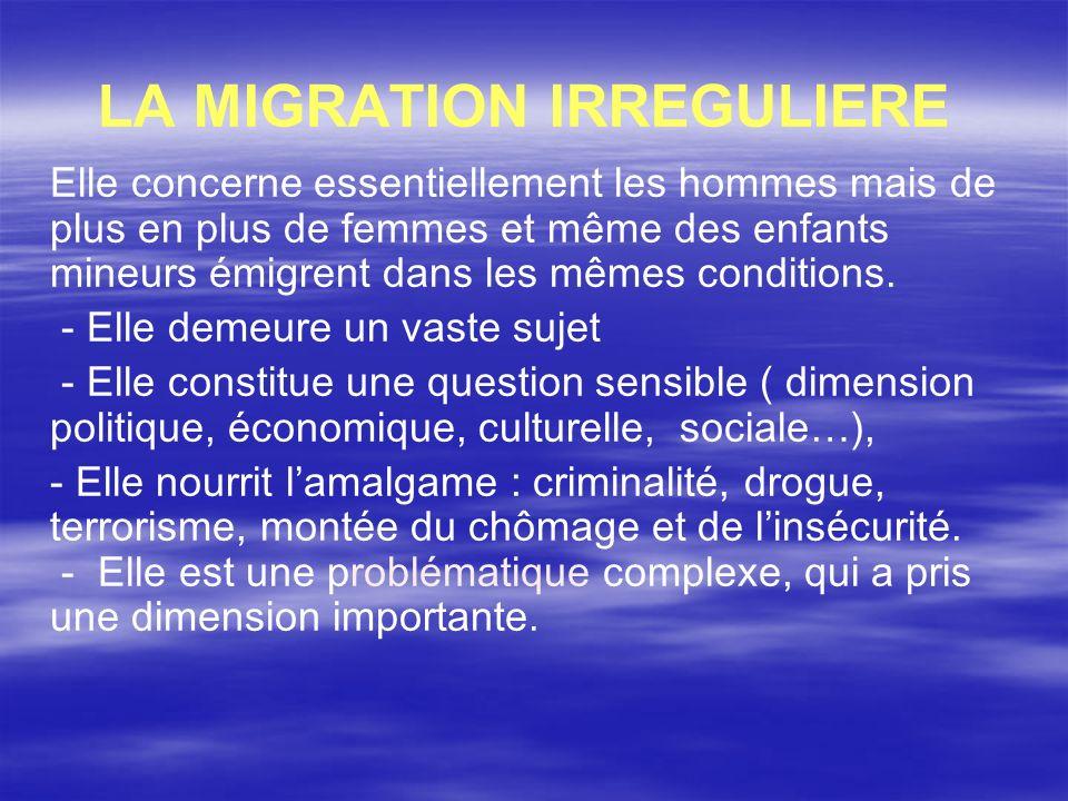 LA MIGRATION IRREGULIERE